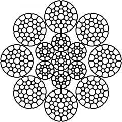 Cuerdas de acero ponen DOBLE STS 092,1 8x36 (1 + 7