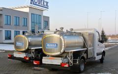 Tanker truck milk tanker