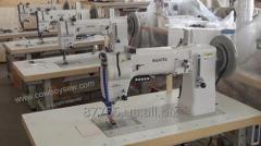 Одноигольная швейная машина  с нижним и верхним