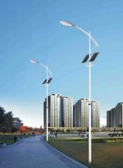 Lamps are street solar, a streetlight on solar