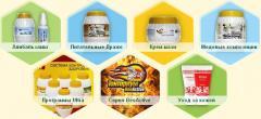 Продукция создана из продуктов пчеловодства и