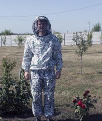Костюм пчеловода ситцевый с маской