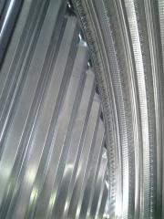 Profiles from galvanized metal