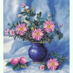Набор для вышивания крестиком Букет хризантем в
