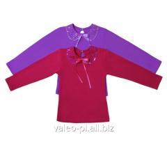 Блуза для девочек + вышивка, модель 010049310, интерлок начесной