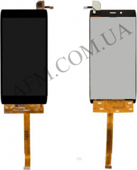 Дисплей (LCD) Alcatel 6032X One Touch Idol Alpha Slate с сенсором черный