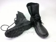 Army boots are black, facilitated