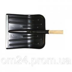 Лопата снеговая пласт. усиленная с  метал. накладками и черенком (420*350см), 0102050211