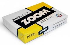 Paper of A4 Zoom (Finland) 80g/sq.m, 500 sheets,