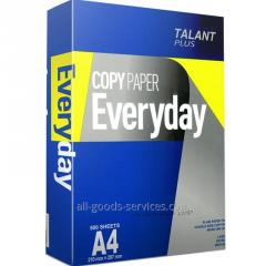 El papel А4 Talant Plus Everyday (China) 75g/m2,