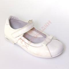 Туфли для девочки на липучке Бантик Kumi, белый,