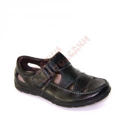 Туфли для мальчика Прорези B&G, Черный, 27,