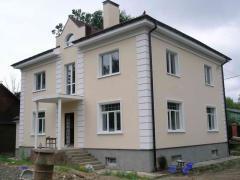 Фасадные работы (штукатурка фасада, покраска