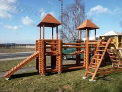 Изготовление и продажа деревянных беседок, игровых площадок, декоративных колодцев и других изделий