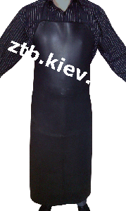 Apron neoprene for cleaning of premises of shops