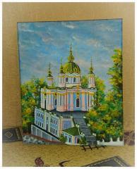 """Картина  """"Андреевская церковь"""""""