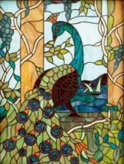 Stained-glass windows on glass