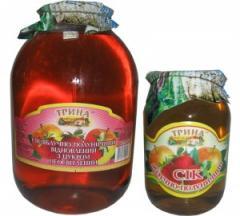 Сок яблочно-клубничный (неосветленный