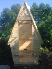 Туалет дерев'яний для дачі