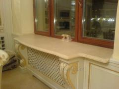 Window sills from a natural stone