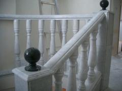 Balustrades from a natural stone