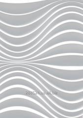 The plaster 3D panel for Bohemia walls, 100*60*25