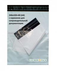 Курьерский пакет 240x320+40 (А4) с карманом для сопроводительной документации