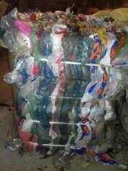 Отходы пленки ПВД цветная