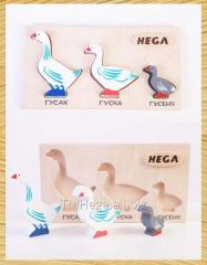 "Set of figures inserts ""Geese"""