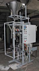 Автомат Пневматик-400 АВАНПАК с четырехпотоковым весовым дозатором для фасовки в 3-х шовные пакеты