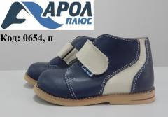 Ортопедические кожаные ботинки для ребенка
