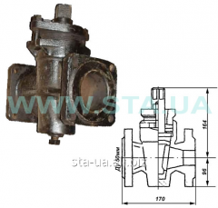 Flange pig-iron p / about the Du50mm crane valve