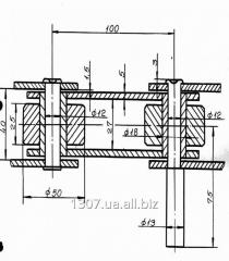 Chain roller traction step of 100 mm