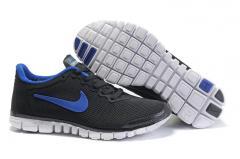 Кроссовки Nike free 3 v2 темно серые+синий