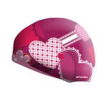 Детская шапочка для плавания Spokey Stylo JR сердечки