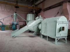 Действащ цех за производство на горивни брикети