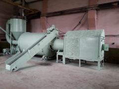 Utrustning för tillverkning a briketter