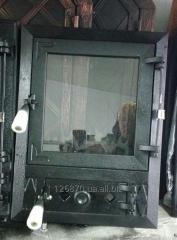 Дверки чугунные со стеклянными дверками