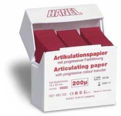 Бумага артикуляционная Hanel 200мкм 300 листов - I-образная форма