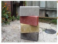 Кирпич строительный (серый и цветной) от