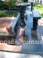 Design project of details of a bench, tables,