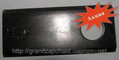 Нож косилки роторной z169 (96*40*3)