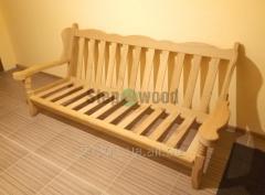 Sofa + 2 chairs of Oak