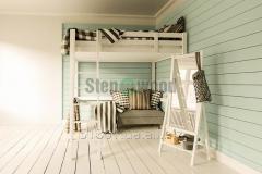 Кровать двухэтажная из сосны с лестницей 2100*2100*1500