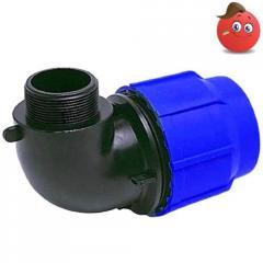 Угольник 90° компрессионный UA-PLAST Ду 63х2'Н