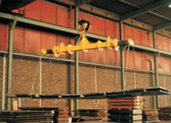 Telescopic traverse with With the hydraulic drive,