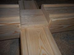 Beam glued shaped for walls