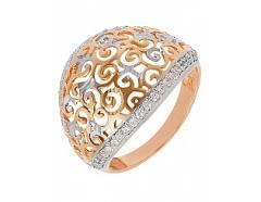 Золотое кольцо 585 пробы с фианитами ,...