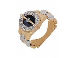 Золотой перстень 585 пробы с фианитами ,...