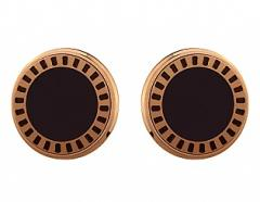 Gold cuff links of the 750th test with enamel, the